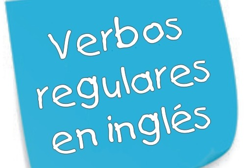 verbos regulares en ingles
